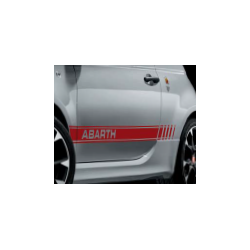 STICKERS LATERAUX ABARTH COLORIS ROUGE POUR ABARTH 500,595 ET 695